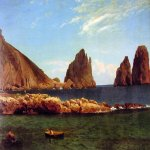 Albert Bierstadt (1830-1902)  Capri  Oil on canvas, c.1857  13 1/8 x 18 5/8 inches (33.6 x 47.6 cm)  Tarzoli Gallery, San Rafael
